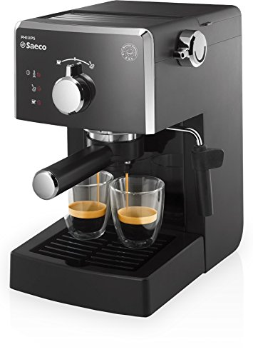 Saeco Poemia Focus HD8423/11 - Máquina de café espresso manual para café molido y monodosis E.S.E., color negro