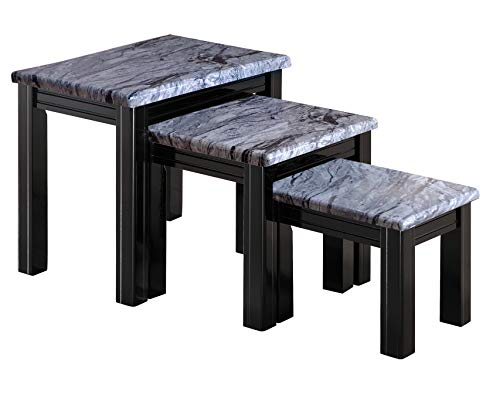 Furniture Express Grey Marble Effect Nest of Tables