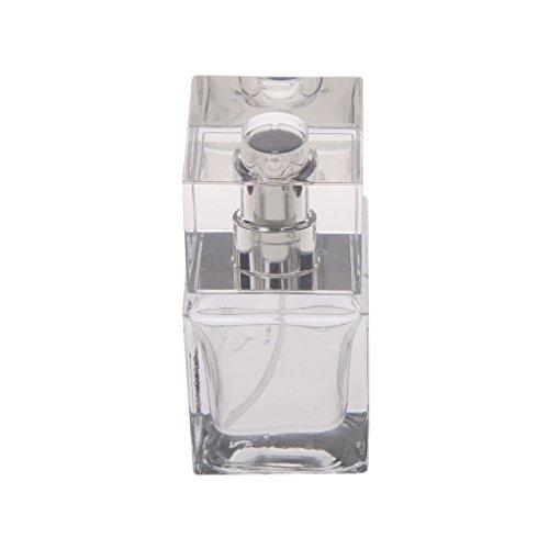 Generic 30/50ml verre vide rectangle atomiseur clair Bouteille de Parfum, réutilisable 30ml Pulire
