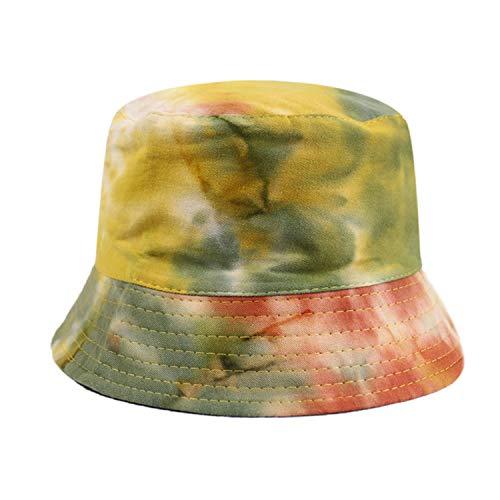 Lovely-Star Primavera Verano Negro Púrpura Tie Dye Bucket Sombrero de Pesca Gorras Hombres Mujeres 2020 Nuevo