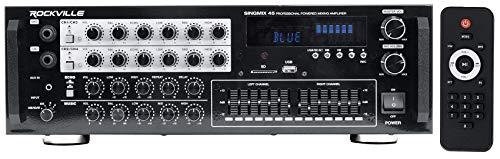 Rockville 1000w Powered Karaoke Mixer Amplifier w/Bluetooth/USB/Echo (SINGMIX 45)