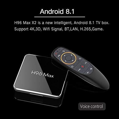 Metermall Hot for S905X2 H96 Max X2 Android 8.1 TV Box HD Smart Network Media Player 4G+64G UK plug