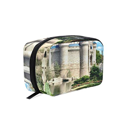 CONICIXI Stylish Daily Toiletry Bag Castle Amusement Park USA Florida Gothic Garden Meadow Lake Sunny Sky Orlando Paradise Makeup Accessories Organizer Cosmetic Bags Travel Storage Pouch Portable
