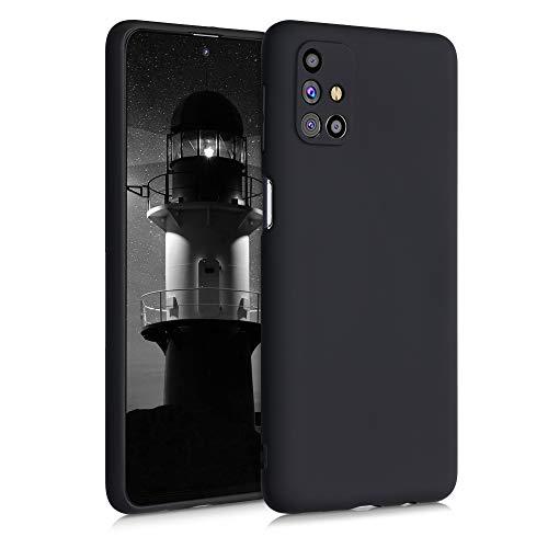 kwmobile Cover Compatibile con Samsung Galaxy M31s - Custodia in Silicone TPU - Backcover Protezione Posteriore- Nero Matt