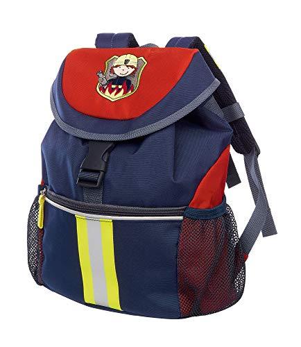 sigikid, Jungen, Großer Rucksack, Motiv Frido Firefighter, Blau/Rot, 25040