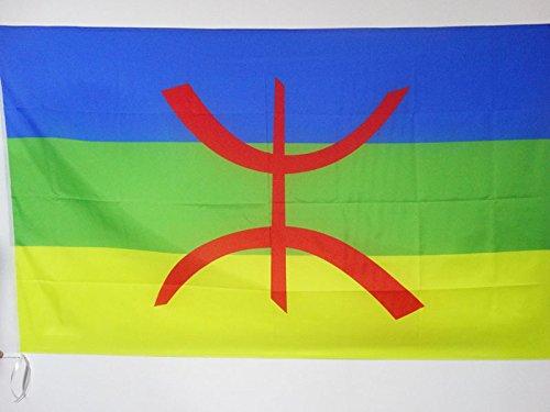 AZ FLAG Bandera de CABILIA 90x60cm para Palo - Bandera BEREBER - Argelia 60 x 90 cm