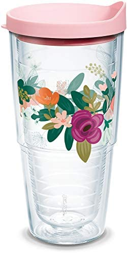 Tervis Neo Mint Floral Insulated Tumbler 24oz Clear Tritan product image