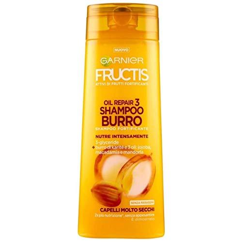Garnier Shampoo Fructis Oil Repair 3 Burro, Shampoo Burro per Capelli Molto Secchi, 250 ml