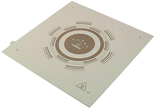 Placa de cerámica para microondas Makro-Professional GMW1025, Metro-Professional GMW1025, longitud 330 mm, ancho 335 mm, grosor 3,5 mm