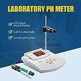 S SMAUTOP Medidor de pH de Laboratorio Benchtop, Precisión de ± 0.01 PH, Electrodos PH/Temp 2, Calibración Automática de 2 puntos, Medidor de pH Digital de Escritorio
