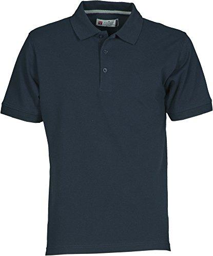 PAYPER Herren Polohemd Venice 100% Baumwolle Größe S bis 5XL Kurzarm 3 Knöpfe Nackenband, Farbe:Navy;Größe:L