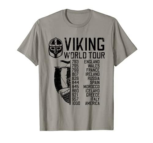 Viking World Tour | Norse Mythology Gift | Historical Era T-Shirt