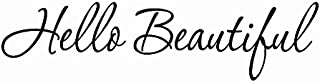 VWAQ Hello Beautiful Wall Decal Inspirational Quotes Mirror Stickers 1620 (30