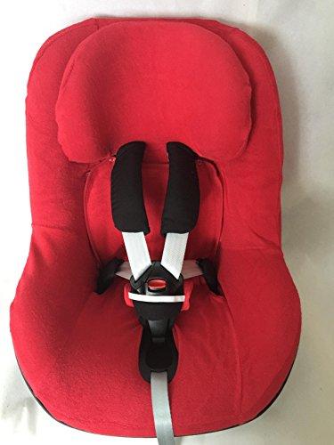 Sommerbezug Schonbezug Frottee passend für Maxi-cosi Pearl, Pearl Pro und 2wayPearl Frottee 100% Baumwolle rot