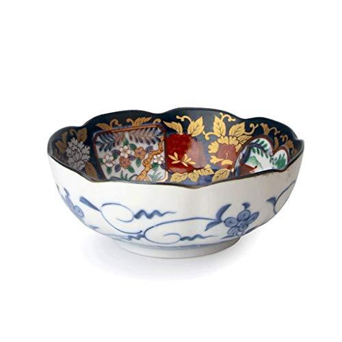 YNHNI Tazón de cerámica Hogar Vajilla Estilo Plato de Sopa Ramen tazón Grande de la Vendimia, Plato, Tazón 3 tamaños (Color : S)