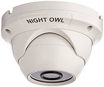 Night Owl Security 1 Pack Add–On 1080p HD Wired Security Dome Camera – Audio Enabled  White