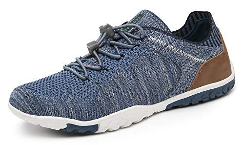 SAGUARO Zapatos Descalzo Hombre Mujer Calzado de Trail Running Antideslizante Zapatillas Deportes Ligero para Correr Fitness Gimnasio Asfalto Senderismo Caminar, 070 Azul, 36 EU