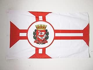 AZ FLAG Sao Paolo Flag 3' x 5' for a Pole - Saint Paul in Brazil Flags 90 x 150 cm - Banner 3x5 ft with Hole