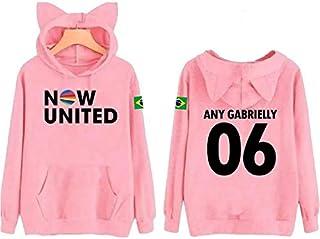 Moletom Infantil Now United Personalizado Any Gabrielly Capuz Orelhinha