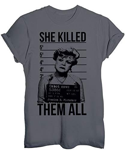 T-Shirt Jessica Fletcher ha ucciso tutti foto segnaletica murder she wrote - Divertenti - Maglietta