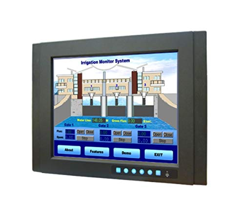 (DMC Taiwan) 15 inches XGA Industrial Monitor with Resistive Touchscreen, Direct-VGA, DVI Ports, and Wide Operating Temperature