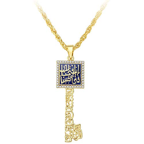 Collana Girocollo in Oro con Goccia A Olio Lunga da Donna con Diamanti E Diamanti Arabi