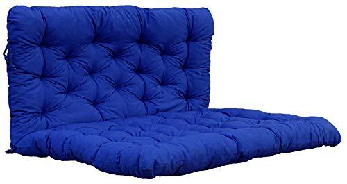 Ambientehome Made in Europe Cojín para Muebles de jardín, Azul