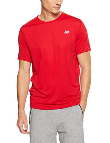 New Balance Mens Accelerate Short Sleeve Tee Shirt, Team Red, Small