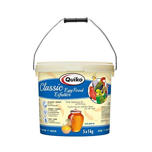 Quiko Classic Eifutter 5000g (5 x 1kg) -Kraft- & Aufzuchtfutter für alle Ziervogelarten