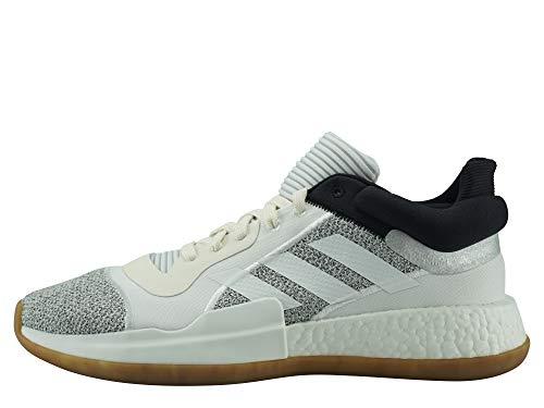 adidas Hombre Marquee Boost Low Zapatos de Balonmano Blanco, 44 2/3