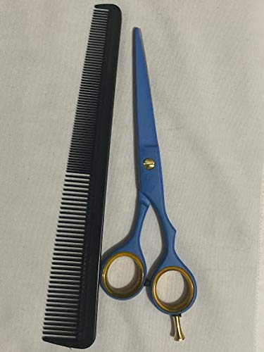 6' Professional Moustache Scissors + Comb, Beard Trimming Scissors, Extremely Sharp 6'+ Case