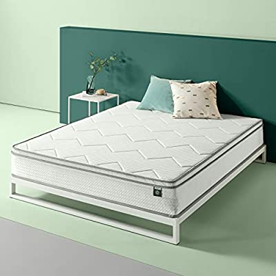 Zinus 6in Charcoal Tight Top Bonnel Spring Mattress