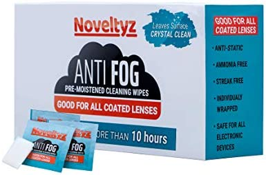 Eyewear Lens Anti Fog Wipes Cleansing Pre Moistened 100 Individually Wrapped Cloths Wipe Cleaner product image