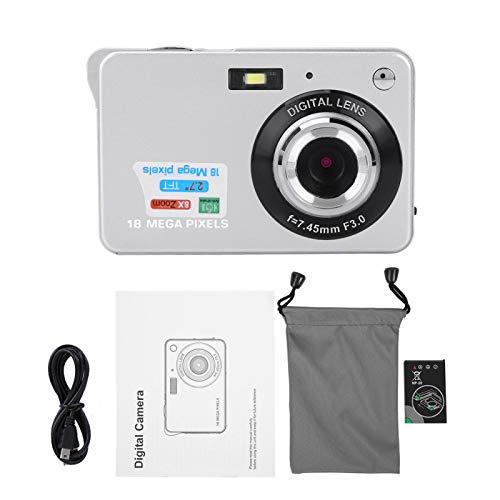 Fudax 94 * 60 * 24 mm Video 3 Colores 2.7 Pulgadas Cámara Digital para niños, cámara para niños, HD Digital para niños pequeños, niñas, niños(Silver)