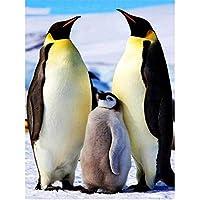 DIY-5dダイヤモンド塗装キット,フルラウンドドリル、かわいいペンギン家畜40x50cm、大人のためのラインストーンクリスタルドローイングギフトキッズモザイクメイキングアートデコレーション