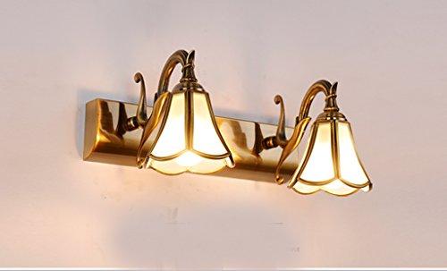 Ancien européen salle de bain de lumière miroir lumières LED miroir de salle de bain cabinet américain maquillage minimaliste vanité lampes mur (Classe de rendement énergétique A +) ( taille : Deux )