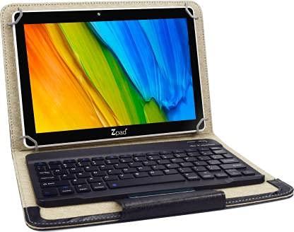 Wishtel IRA ZPAD 2 in1 10.1 inch 1080p Full HD, IPS LCD Tablet with Keyboard (2GB, 32GB, WiFi + 4G Volte), Black