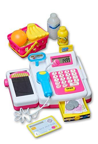 Eddy Toys Spielkasse für Kinder mit funktionsfähigen Eingabefeld, Scanner, Geldfach & vieles mehr