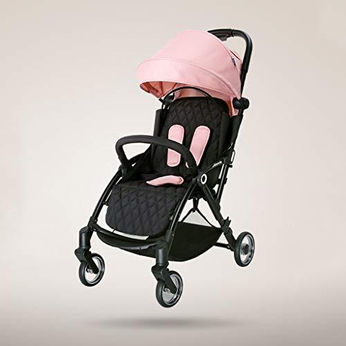Kinderwagens voor peuters Lichtgewicht Zittend en Liggend Draagbare Luifel Paraplu Inklapbaar Reizen System0-3 Jaar oud roze