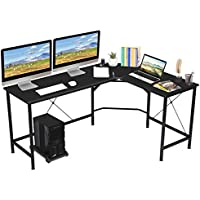 KingSo 65 Inch L Shaped Computer Gaming Desk with CPU Stand