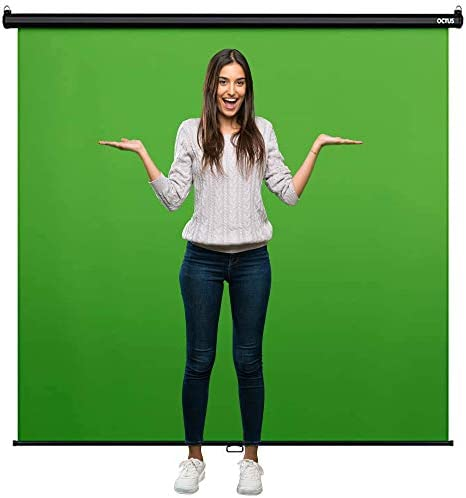 Octus Wide Angle Green Screen 82 Inches Wide Wall Mounted Pull Down Backdrop Chroma Key Panel product image