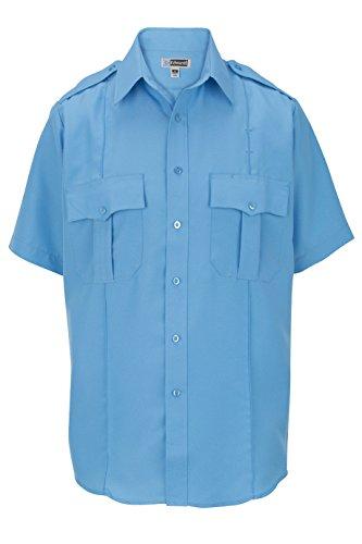 Ed Garments Big and Tall Durable Short Sleeve Security Shirt, Blue, X-Small