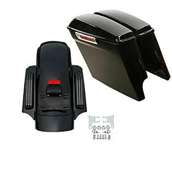 TCMT 5  Stretched Saddlebags Rear Fender Fit For Harley Street Road Glide 2014-2020