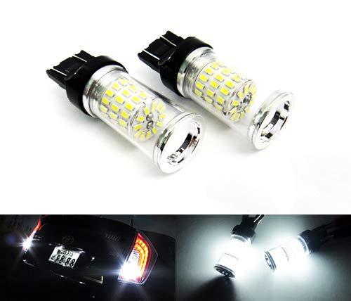 2 x Blanc 582 W21 W 580 W21/5 W ampoule LED à réflecteur veilleuses côté Indicateur de signal Queue Arrêt inversée lumière du jour DRL