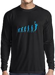Camiseta de Manga Larga para Hombre evolución de Baloncesto - Canasta de la Calle