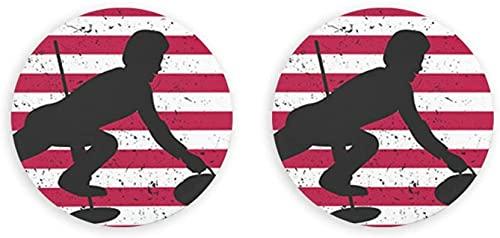American Curling Fan Leapfrog - Abrebotellas magnético para nevera, gabinete de oficina, cocina, restaurante, nevera, pizarra blanca, 2 piezas