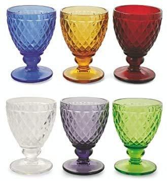 Pagano Home 6 copas de agua – Vino de colores surtidos de...