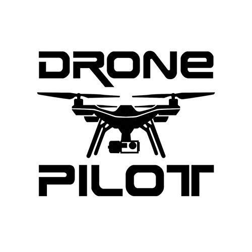 Wiedergeburt Aufkleber Auto 14.6cm * 11,9 cm Auto-Aufkleber DROHNE Pilot UAV Drone Vinyl Aufkleber Schwarz/Silber (Color Name : Black)