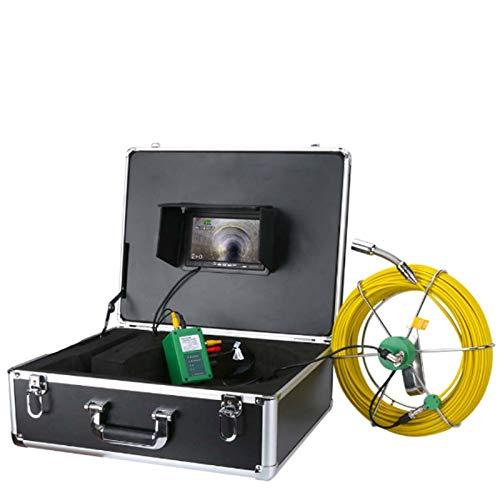 HBHYQ Tuyau d'inspection caméra vidéo, IP68 étanche Tuyau de vidange d'inspection des égouts système de caméra 7\