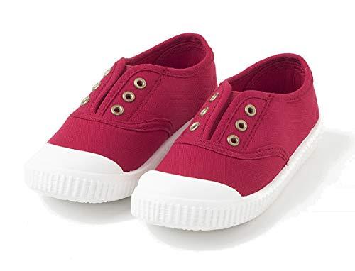 TEX - Zapatillas De Lona Unisex, Rojo, 25 EU